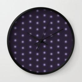 """Polka Dots Degraded & Purple shade of Grey"" Wall Clock"