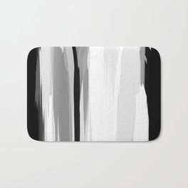 Soft Determination Black & White Bath Mat