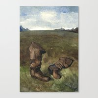battlefield Canvas Prints featuring The Battlefield Guide by Chad Gowey