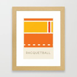 Racquetball (Sports Surfaces Series, No. 15) Framed Art Print