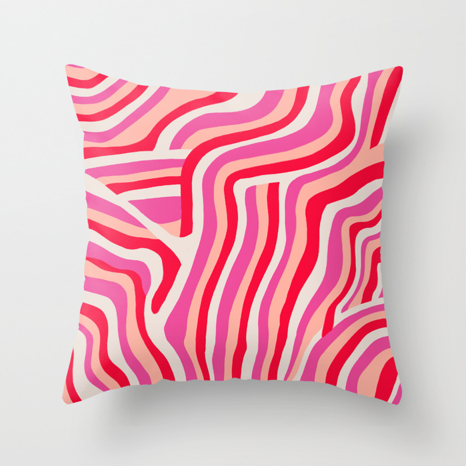 Pink Zebra Stripes Throw Pillow By Sunshinecanteen Society6