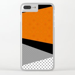 Abstract black orange painting . Clear iPhone Case