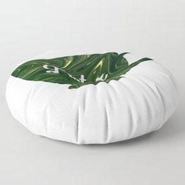 Detox Teacup Green Swirl Acrylic Floor Pillow