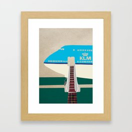airplane illustration Framed Art Print