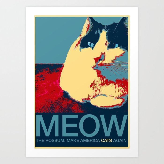 The Possum: Make America Cats Again Art Print