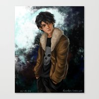 nico di angelo Canvas Prints featuring Nico di Angelo by Monsie