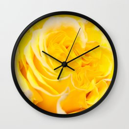 A Touch of Yellow #Rose #1 #art #society6 Wall Clock