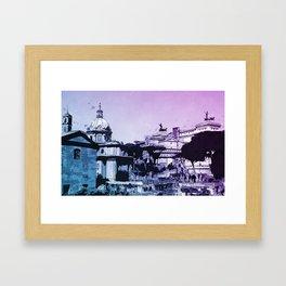 The Imperial Fora, Rome Framed Art Print