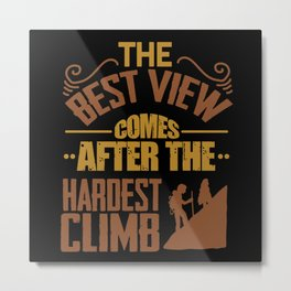 Climbing Mountain Metal Print