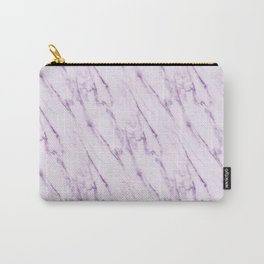 Purple Swirl Marble Carry-All Pouch