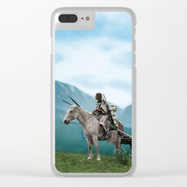 Waiting For The Hunters - Blackfoot Indian Women Clear iPhone Case