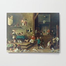 The Kitchen by David Teniers the Younger Metal Print
