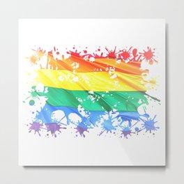 LGBTQ Splatter Metal Print