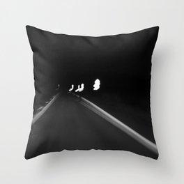Road at night Throw Pillow