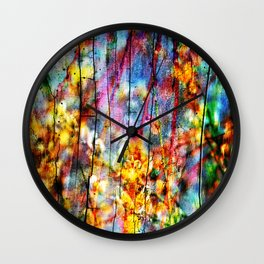 Colorful Symphony of Spring Wall Clock