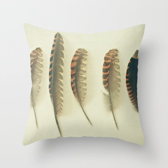 Feathers #2 Throw Pillow