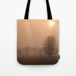 Early morning in a clearing Tote Bag