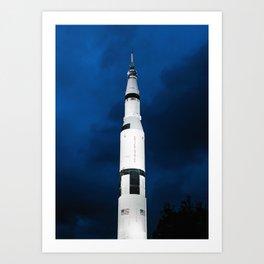 Saturn V Rocket Art Print