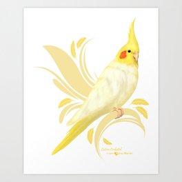 Lutino Cockatiel Art Print