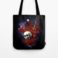 sherlock holmes Tote Bags featuring Sherlock Holmes by Justyna Dorsz