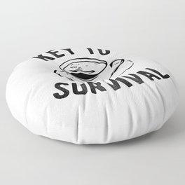 Coffee Key To Survival Caffeine Addict Floor Pillow