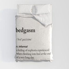 Bedgasm black and white contemporary minimalism typography design home wall decor bedroom Comforters