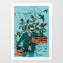 Thistle & Weeds Art Print