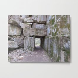 Keyhole in the Quarry Metal Print