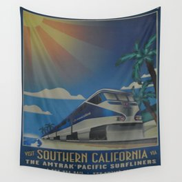 Vintage poster - Southern California Wall Tapestry