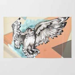 Owl McFly by carographic Rug