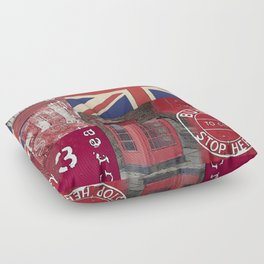 Great Britain London Union Jack England Floor Pillow