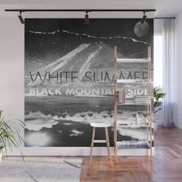 White Summer / Black Mountain Side Wall Mural