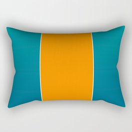 TEAM COLORS 7...TEAL, DK TEAL, ORANGE Rectangular Pillow