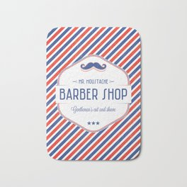 Mr. Moustache Barber Shop Bath Mat