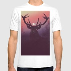 Great Prince of the Forest (version A) Mens Fitted Tee MEDIUM White