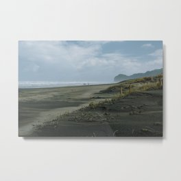 family on Piha Metal Print