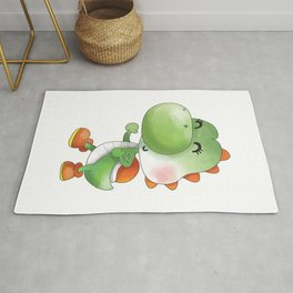 Green Dinosaur Plumber's Collection Rug