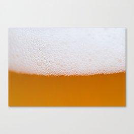 Beer foam Canvas Print