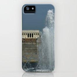Memorial Fountain  And Lincoln Memorial iPhone Case