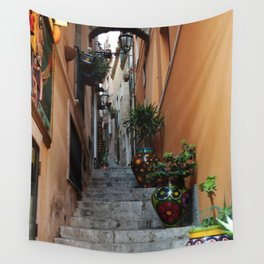 Alley in Sicily Wall Tapestry