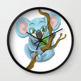 Beautiful koala bear illustration Wall Clock
