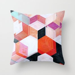 White Paint and Some Colors Throw Pillow