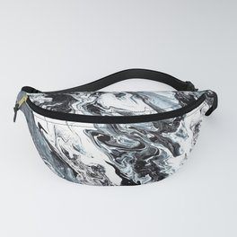 Marble in Black and White Fanny Pack