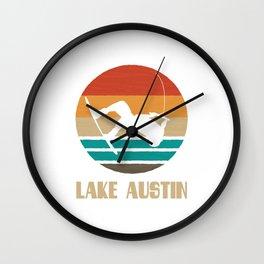 Lake Austin  TShirt Wakeboarding Shirt Wakeboarder Gift Idea  Wall Clock