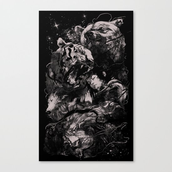 Sleep with Gods Canvas Print