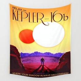 Vintage poster - Kepler-16b Wall Tapestry