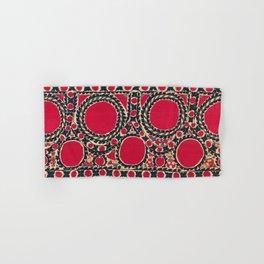 Tashkent Uzbekistan Central Asian Suzani Embroidery Print Hand & Bath Towel
