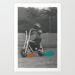 Skid Marks Art Print