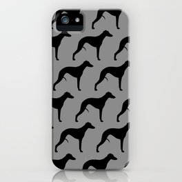 Black Whippet Silhouette(s) iPhone Case