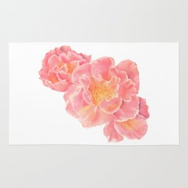 Three pink roses Rug